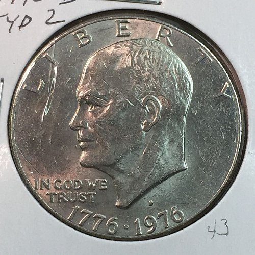 1976-D Type 2 Eisenhower Dollar (40094)