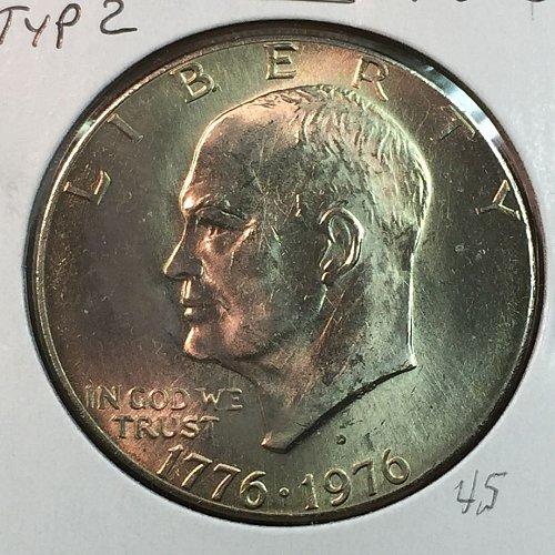 1976-D Type 2 Eisenhower Dollar (40104)