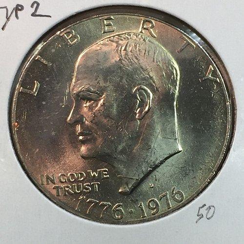 1976-D Type 2 Eisenhower Dollar (40136)