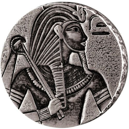 2016 5 oz Republic of Chad Egyptian Relic Series King Tut Silver Coin (BU)