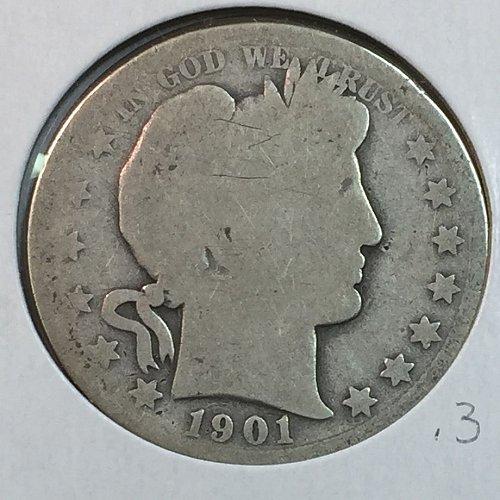 1901-P Barber Half Dollar (40147)