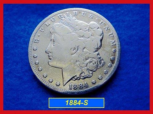 "1884-S Morgan Dollar •••  •  ""Circulated""  (#5230)"