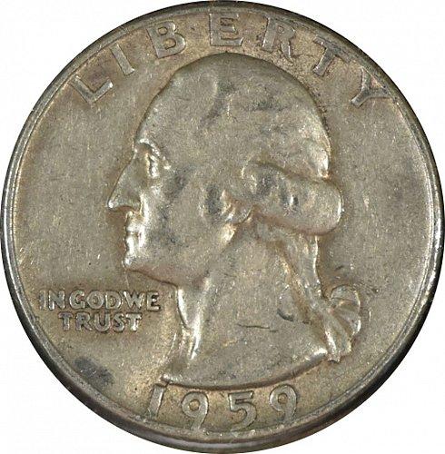 1959 D Washington Quarter, F,  (Item 347)