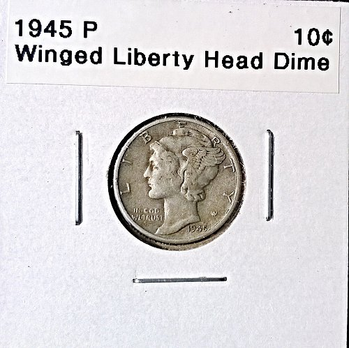 1945 P Winged Liberty Head Dime