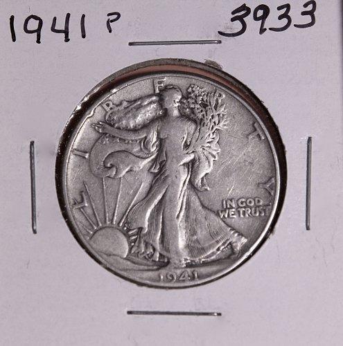 1941 P WALKING LIBERTY HALF DOLLAR #3933