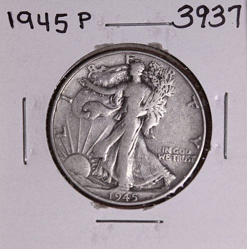 1945 P WALKING LIBERTY HALF DOLLAR #3937