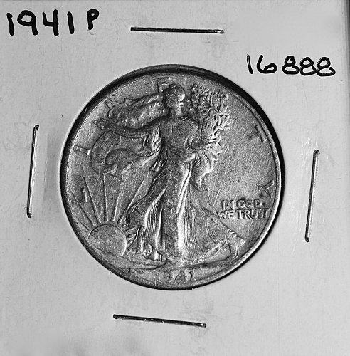 1941 P WALKING LIBERTY HALF DOLLAR #16888