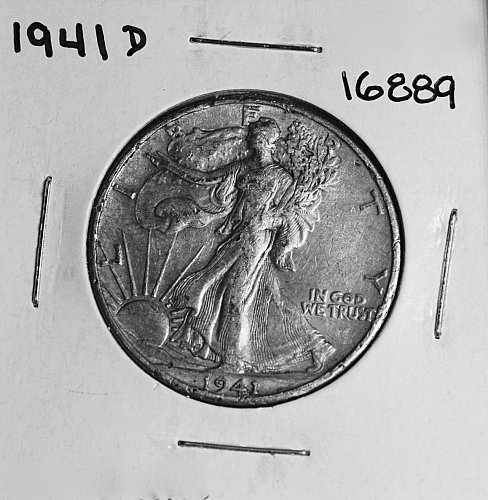 1941 D WALKING LIBERTY HALF DOLLAR #16889