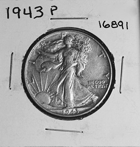 1943 P WALKING LIBERTY HALF DOLLAR #16891