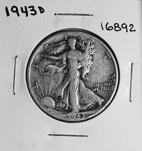 1943 D WALKING LIBERTY HALF DOLLAR #16892