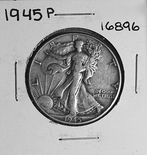 1945 P WALKING LIBERTY HALF DOLLAR #16896