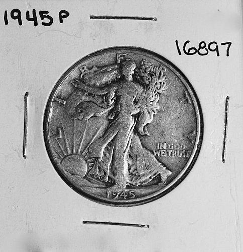 1945 P WALKING LIBERTY HALF DOLLAR #16897