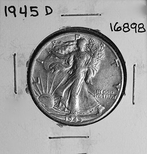 1945 D WALKING LIBERTY HALF DOLLAR #16898