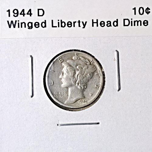 1944 D Winged Liberty Head Dime