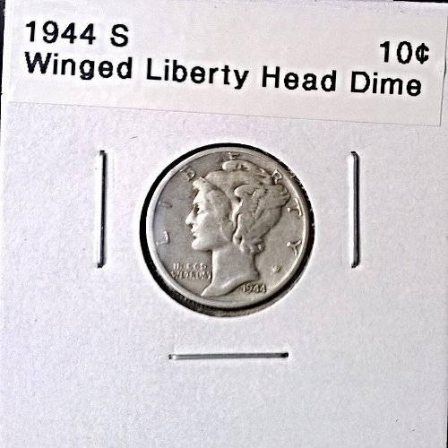 1944 S Winged Liberty Head Dime