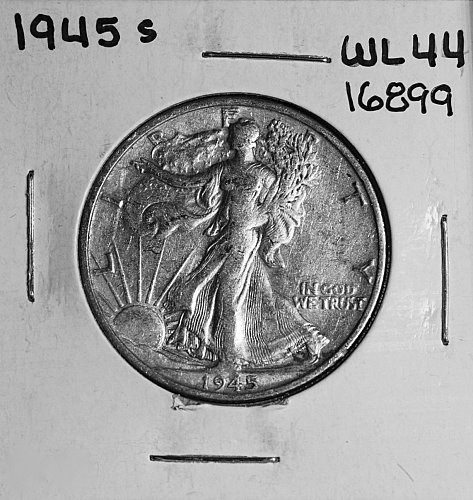 1945 S WALKING LIBERTY HALF DOLLAR #16899