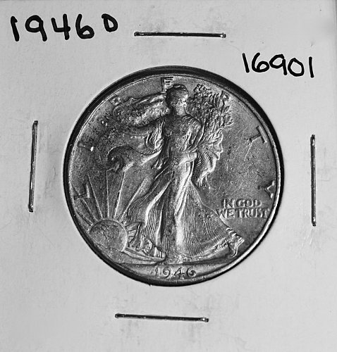 1946 D WALKING LIBERTY HALF DOLLAR #16901