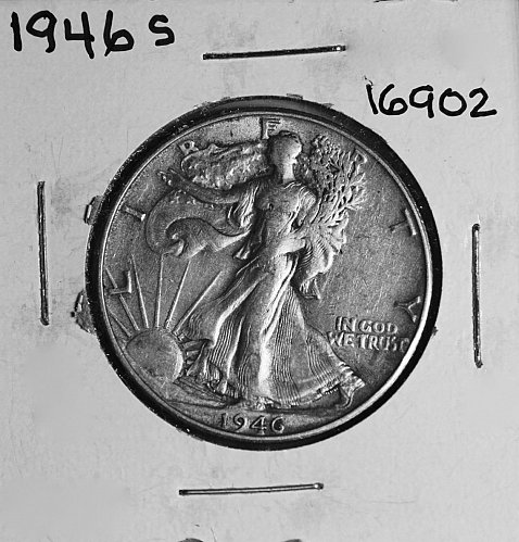 1946 S WALKING LIBERTY HALF DOLLAR #16902