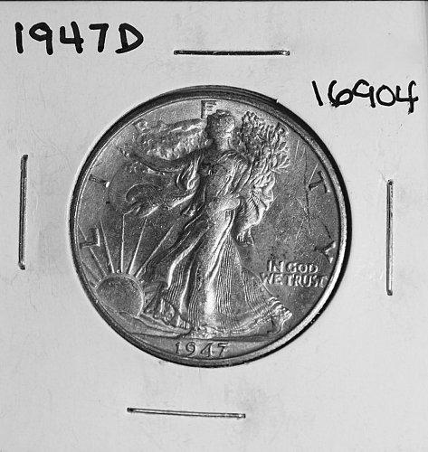1947 D WALKING LIBERTY HALF DOLLAR #16904