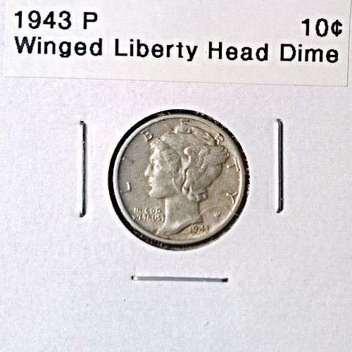 1943 P Winged Liberty Head Dime