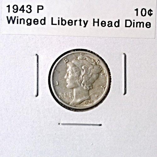 1943 P Winged Liberty Head Dime