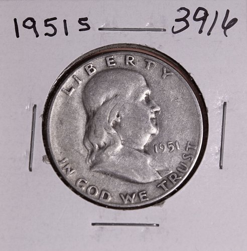 1951 S FRANKLIN HALF DOLLAR #3916