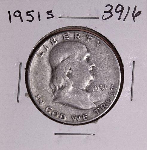 1951 S FRANKLIN HALF DOLLAR #3916