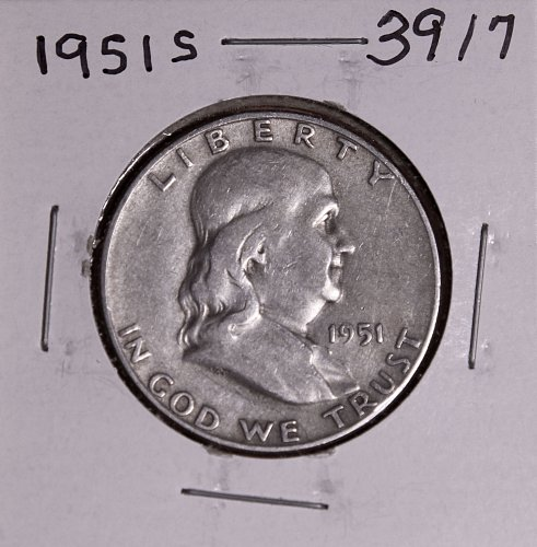 1951 S FRANKLIN HALF DOLLAR #3917