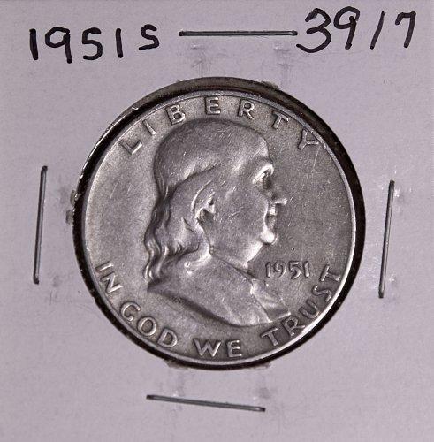 1951 S FRANKLIN HALF DOLLAR #3917