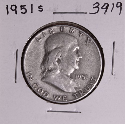 1951 S FRANKLIN HALF DOLLAR #3919