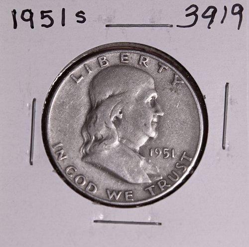 1951 S FRANKLIN HALF DOLLAR #3919