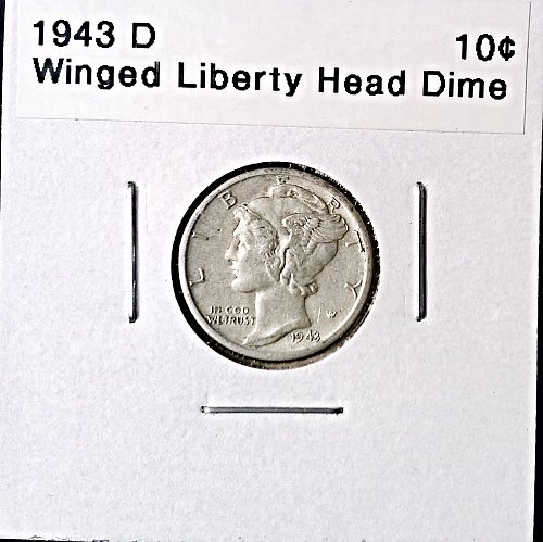 1943 D Winged Liberty Head Dime