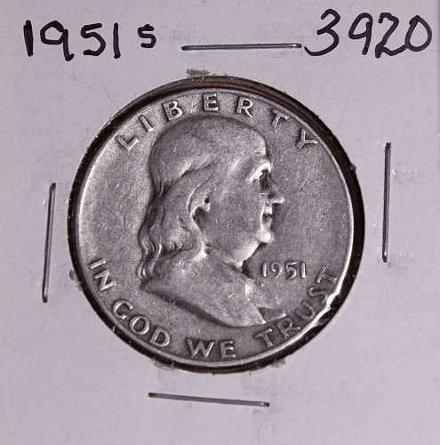 1951 S FRANKLIN HALF DOLLAR #3920