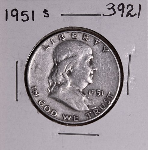 1951 S FRANKLIN HALF DOLLAR #3921