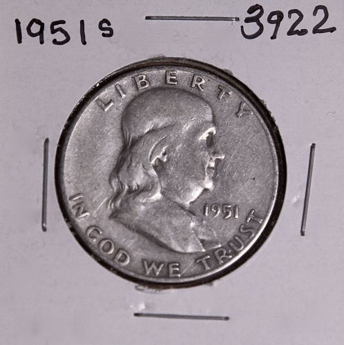 1951 S FRANKLIN HALF DOLLAR #3922