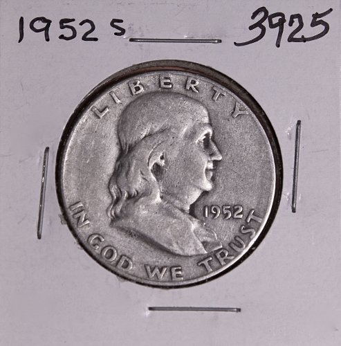 1952 S FRANKLIN HALF DOLLAR #3925