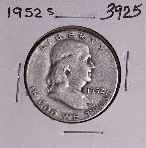 1952 S FRANKLIN HALF DOLLAR #3925
