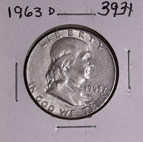 1963 D FRANKLIN HALF DOLLAR #3931