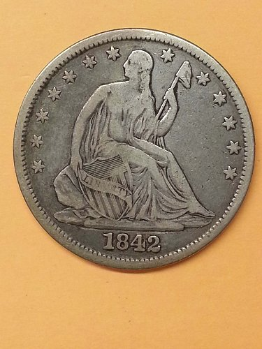 1842 Seated Liberty Half - Medium Date