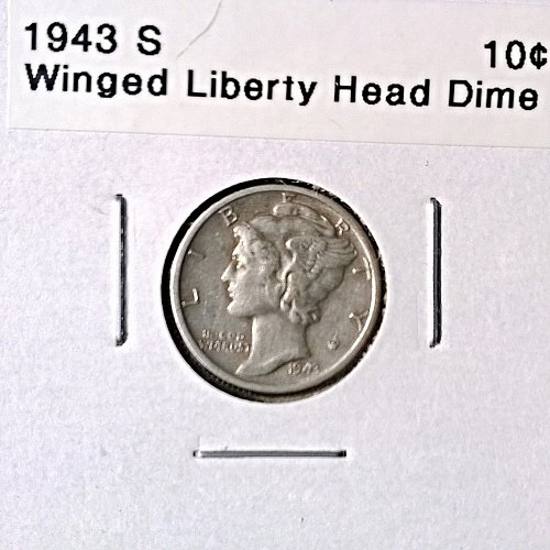 1943 S Winged Liberty Head Dime