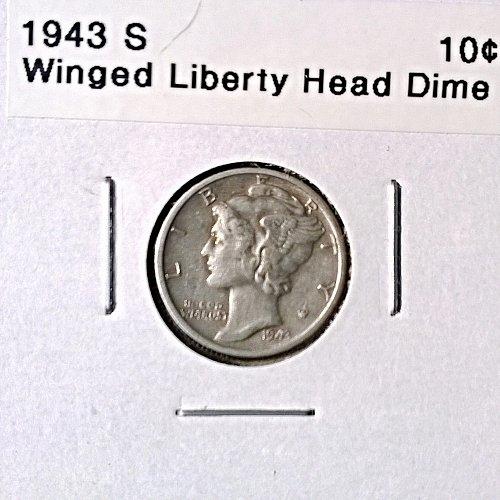 1943 S Winged Liberty Head Dime - 4 Photos!