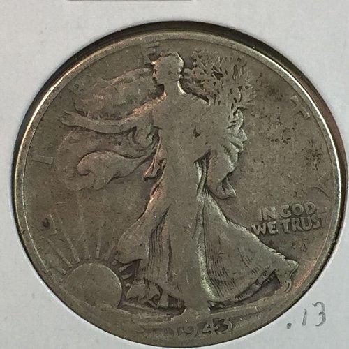 1943-P Walking Liberty Half Dollar (40152)