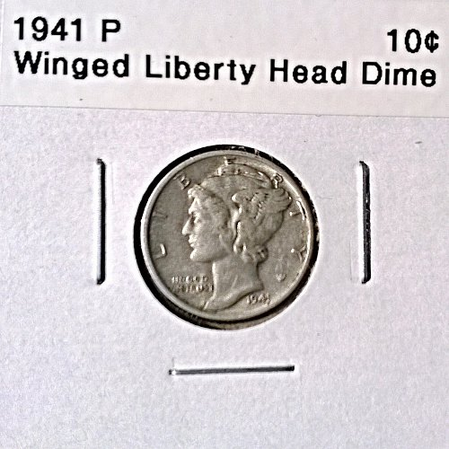 1941 P Winged Liberty Head Dime
