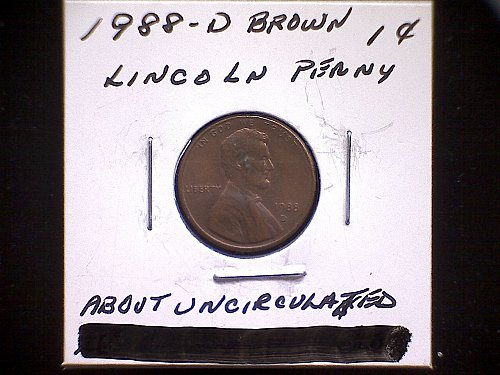 1988-D LINCOLN MEMORIAL CENT