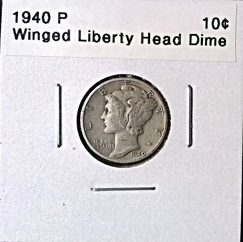 1940 P Winged Liberty Head Dime