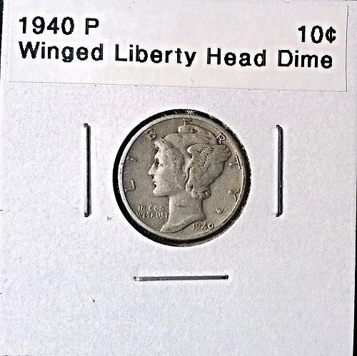 1940 P Winged Liberty Head Dime