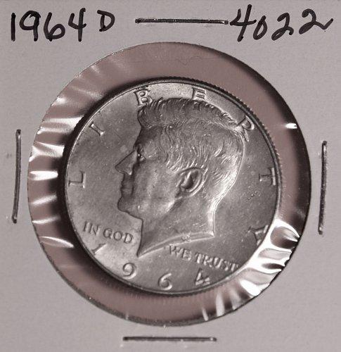 1964 D Kennedy 90 Silver Half Dollar 4022 For Sale