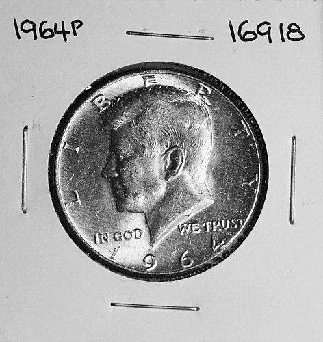 1964 P KENNEDY 90% SILVER HALF DOLLAR #16918