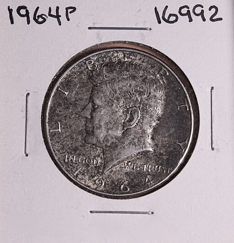 1964 P KENNEDY 90% SILVER HALF DOLLAR  #16992