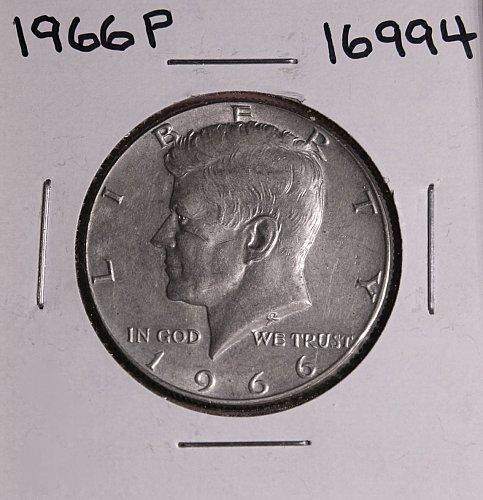 1966 P KENNEDY 40% SILVER HALF DOLLAR  #16994